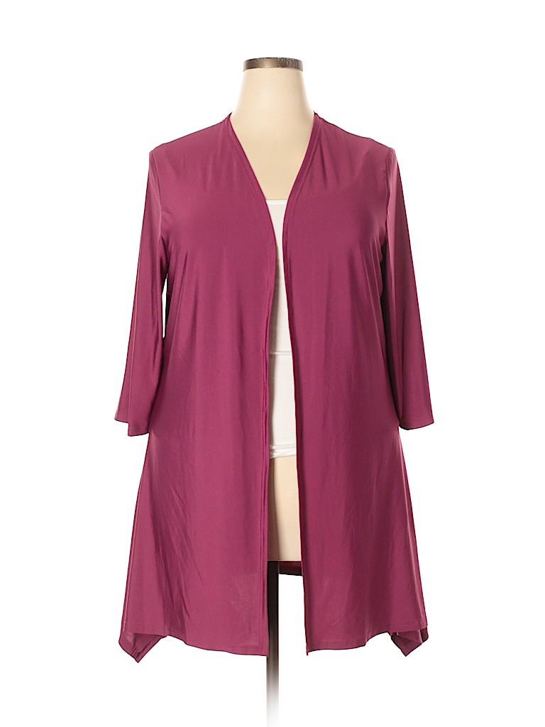 Lily by Firmiana Women Cardigan Size 1X (Plus)