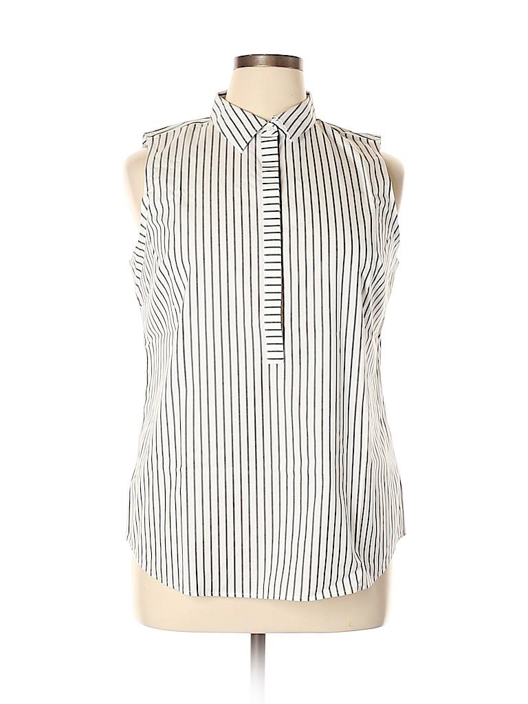 Talbots Women Sleeveless Button-Down Shirt Size 14