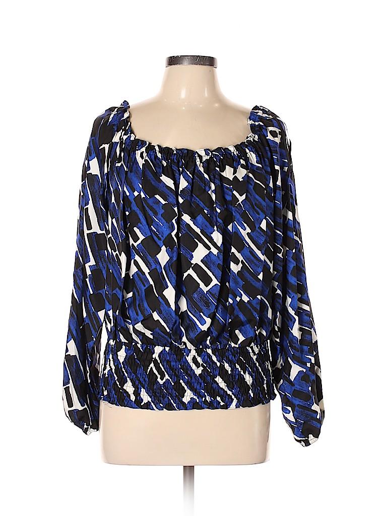 MICHAEL Michael Kors Women Long Sleeve Silk Top Size XL