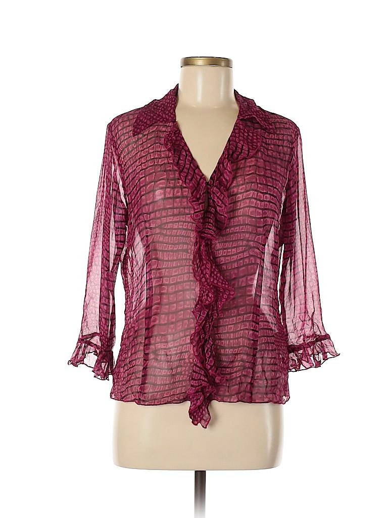 Karen Kane Women Long Sleeve Silk Top Size M