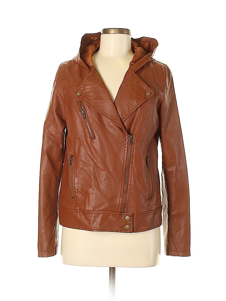 TOBI Women Faux Leather Jacket Size M