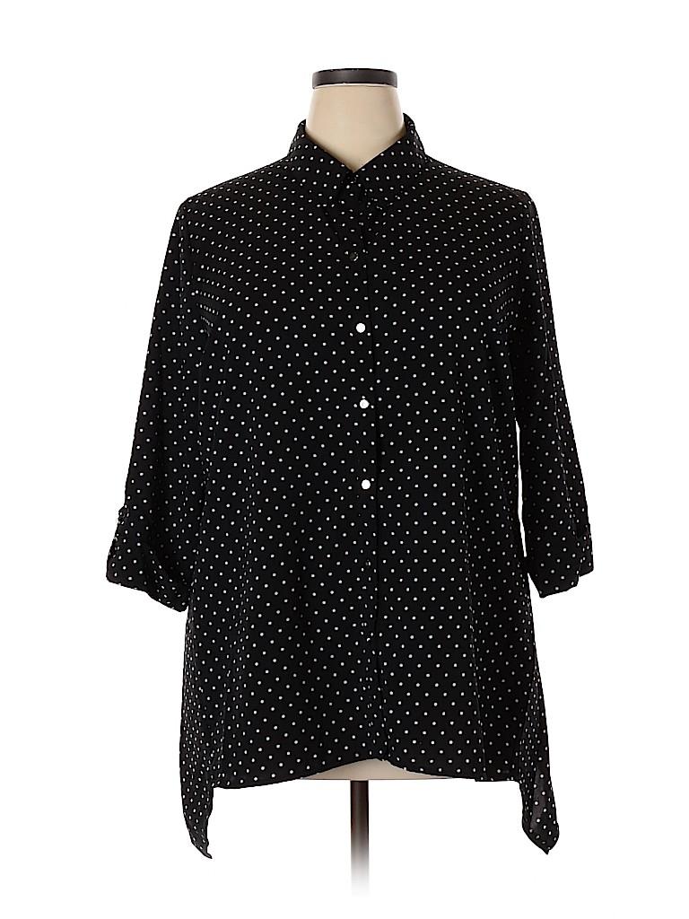 Notations Women Long Sleeve Blouse Size 2X (Plus)