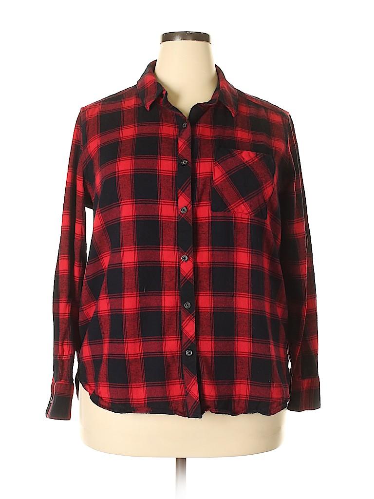 Woolrich Women Long Sleeve Button-Down Shirt Size XXL