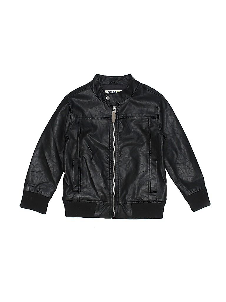 Genuine Kids from Oshkosh Boys Faux Leather Jacket Size 4T