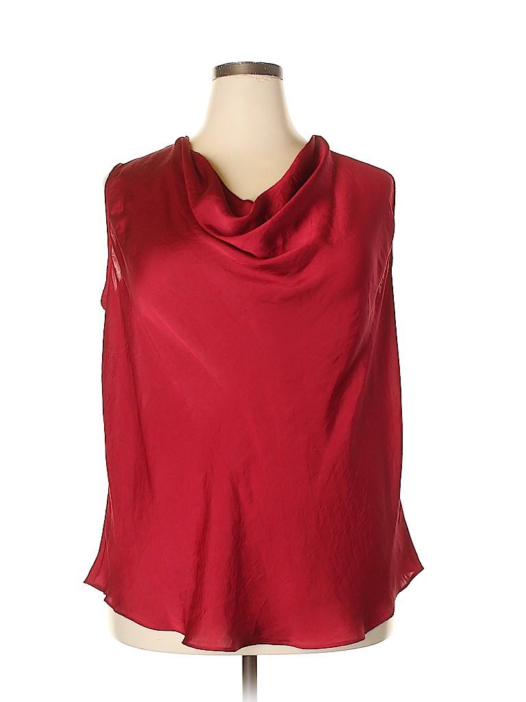 MICHAEL Michael Kors Women Sleeveless Blouse Size 2X (Plus)