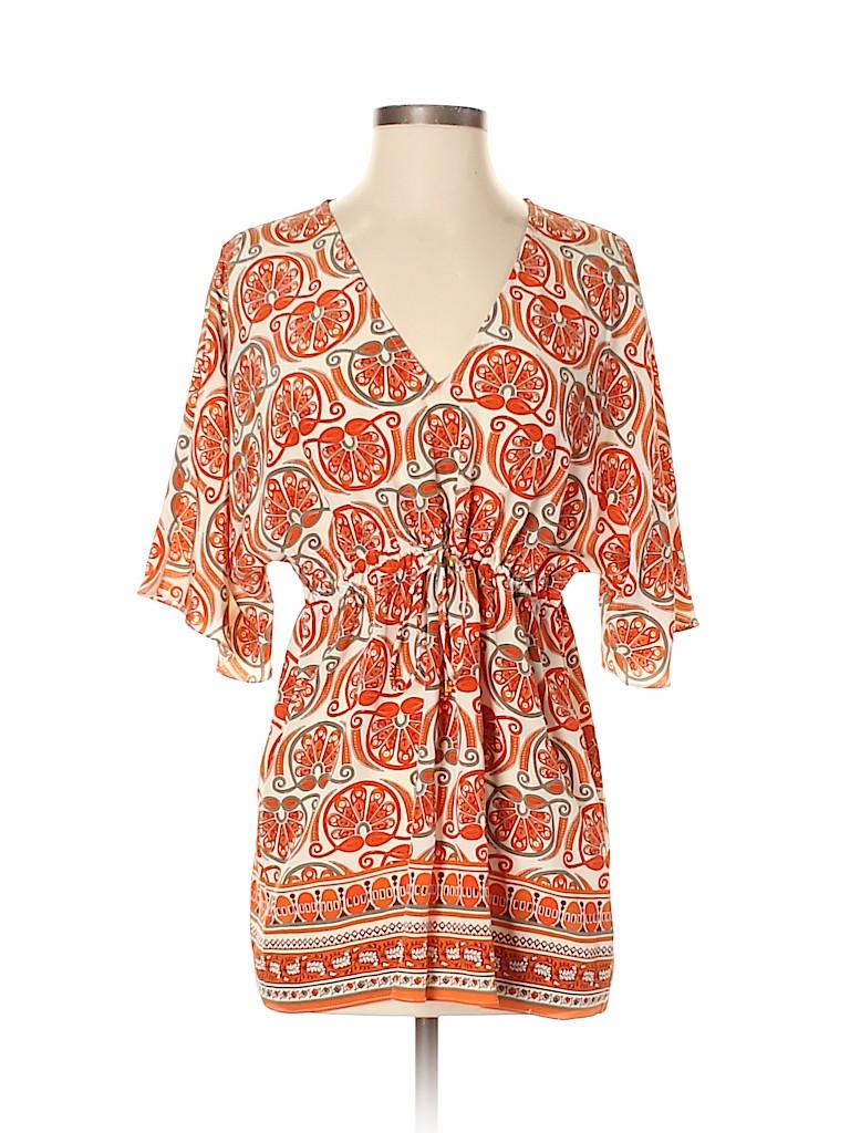 MICHAEL Michael Kors Women Short Sleeve Silk Top Size XS