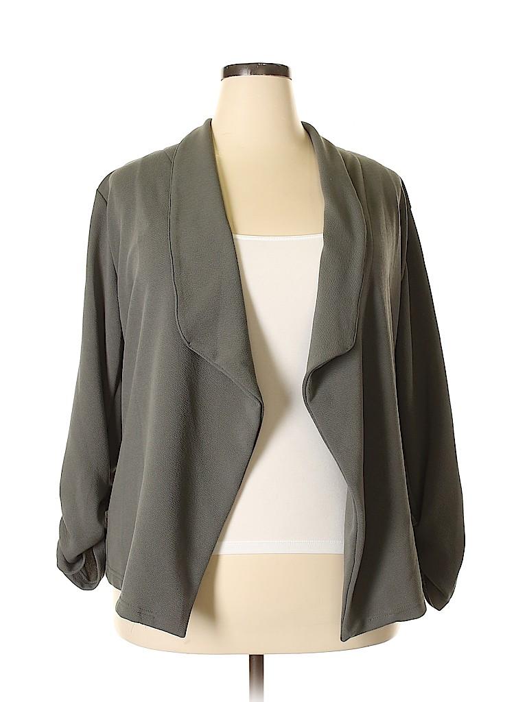 Doublju Women Cardigan Size 2X (Plus)