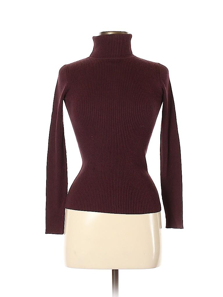 Moda International Women Turtleneck Sweater Size XS