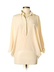 Waverly Grey Long Sleeve Silk Top