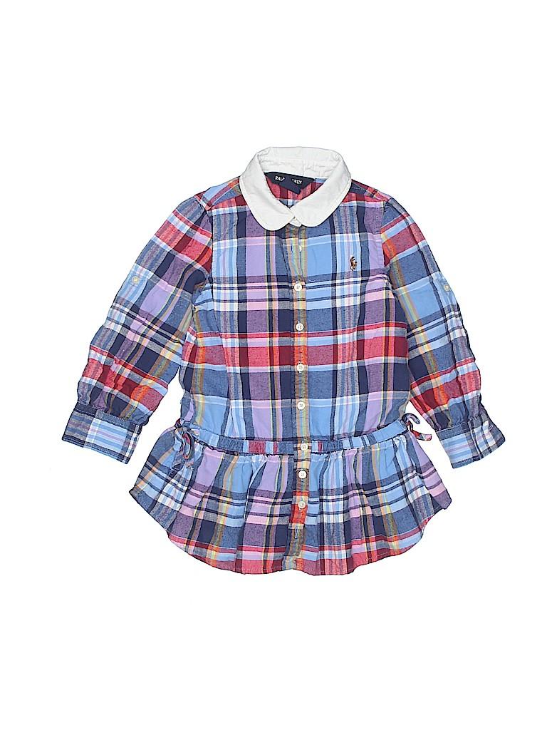 Ralph Lauren Girls Long Sleeve Button-Down Shirt Size 3T - 3