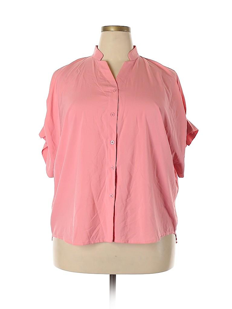 Amaryllis Women Short Sleeve Blouse Size XL