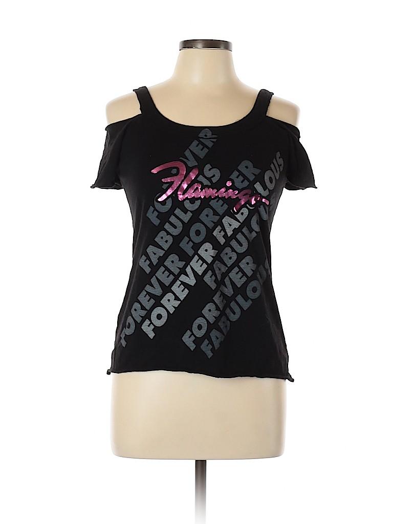 Flamingo Women Short Sleeve T-Shirt Size M