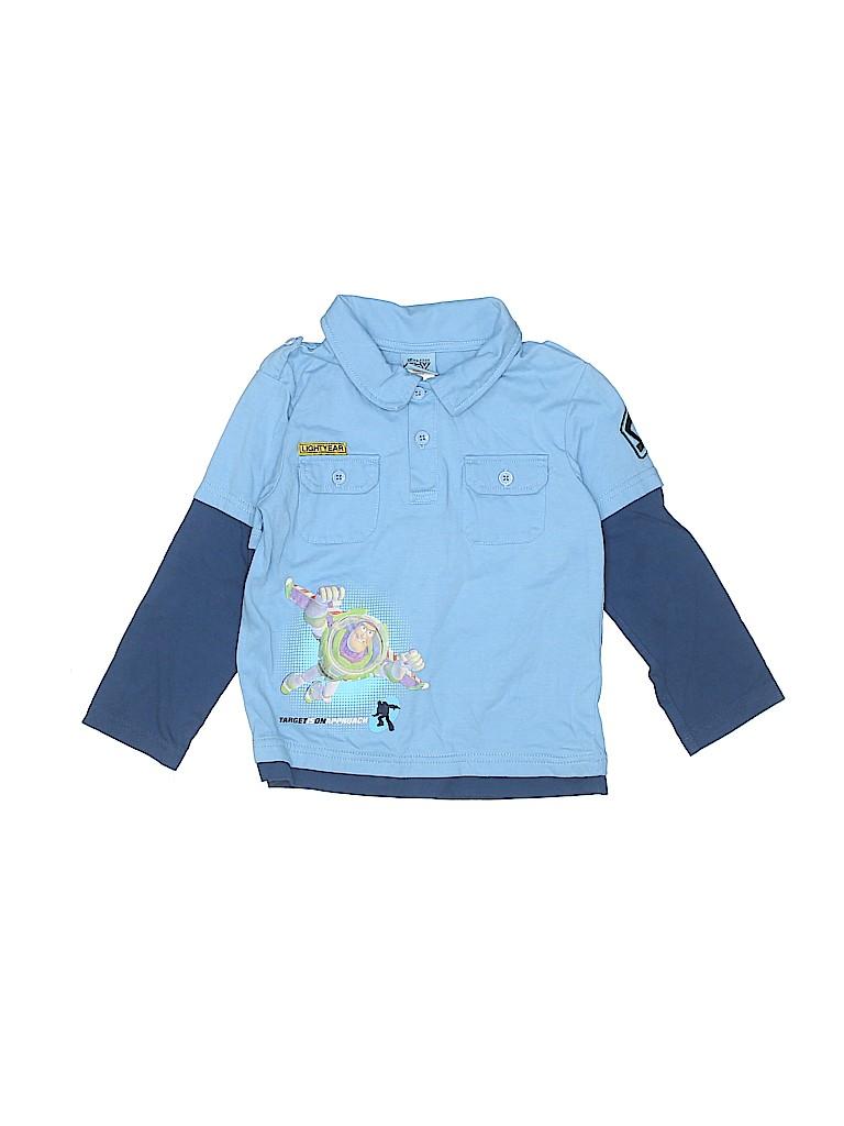 Disney Boys Long Sleeve Polo Size 4T