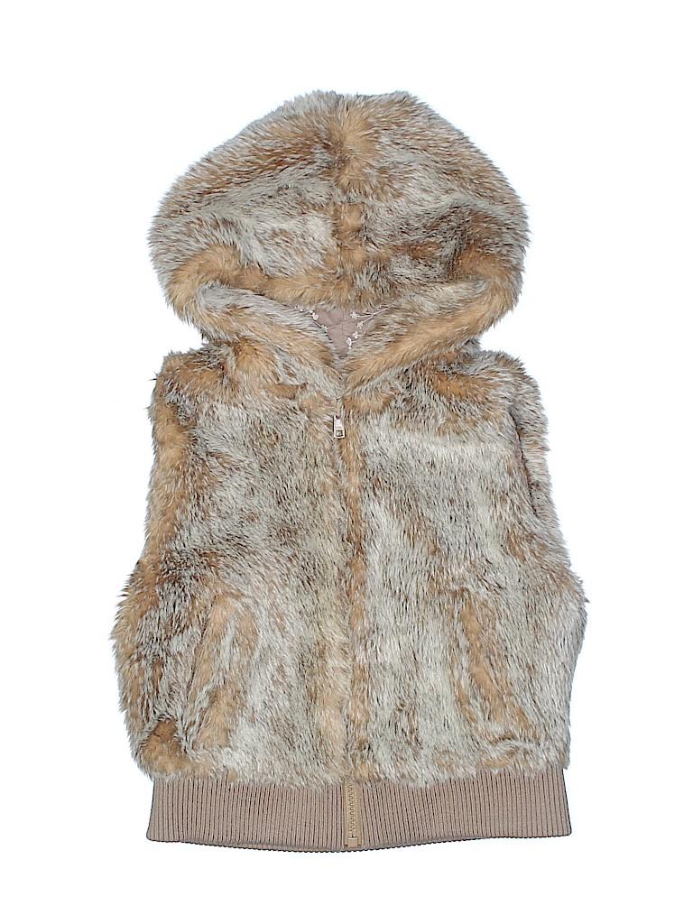 Old Navy Girls Faux Fur Vest Size M (Kids)