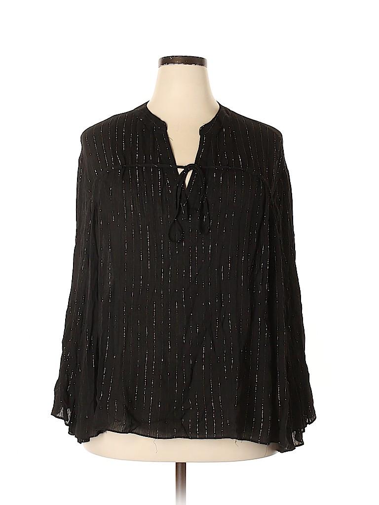 Soprano Women Long Sleeve Blouse Size 2X (Plus)