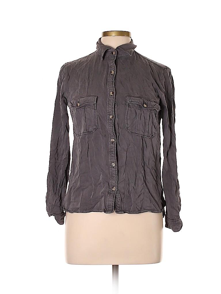 Harper Women Long Sleeve Button-Down Shirt Size L