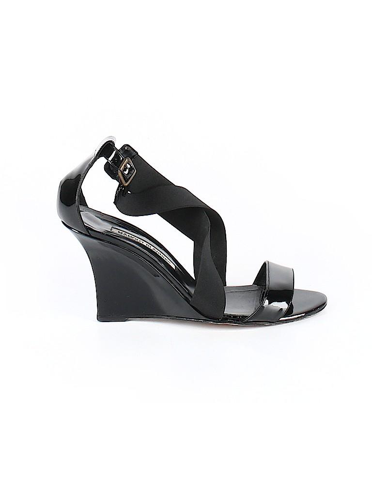 Manolo Blahnik Women Wedges Size 38.5 (EU)