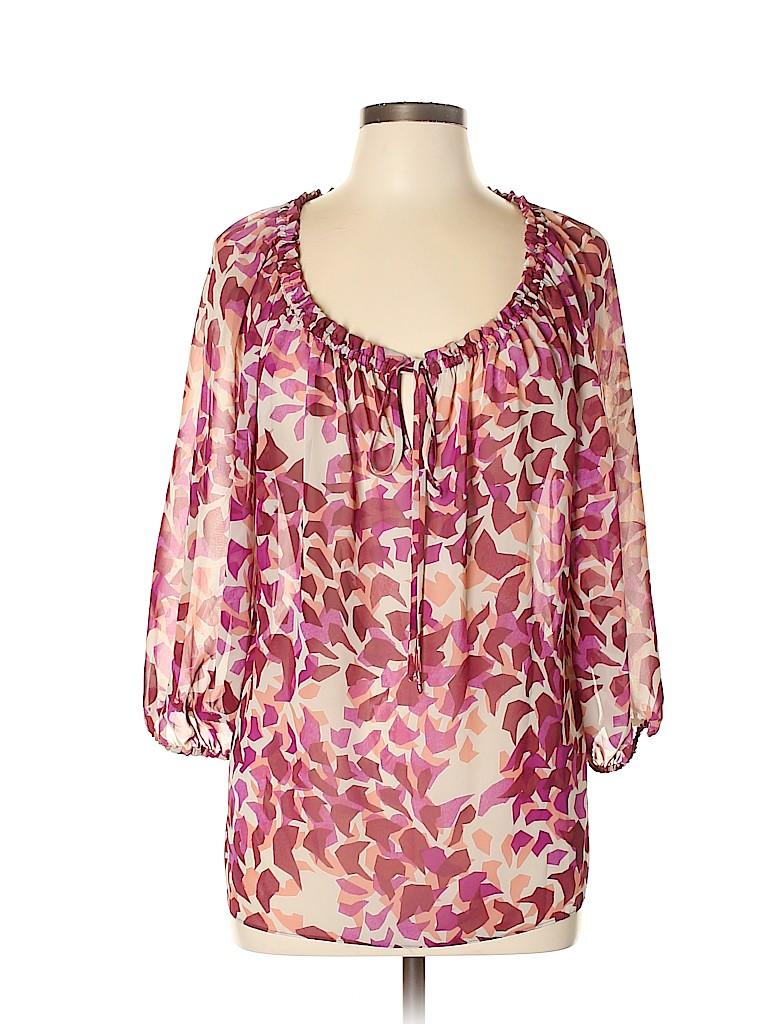 Elle Women 3/4 Sleeve Blouse Size L
