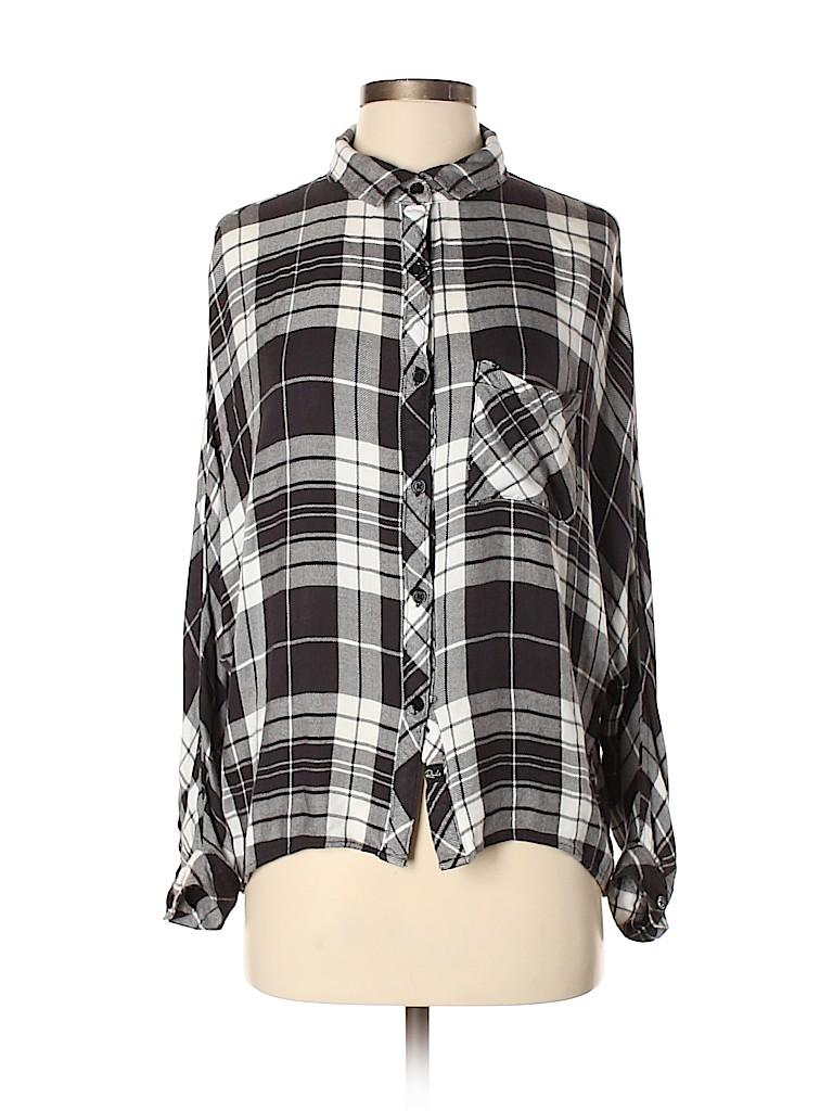 Rails Women Long Sleeve Button-Down Shirt Size S