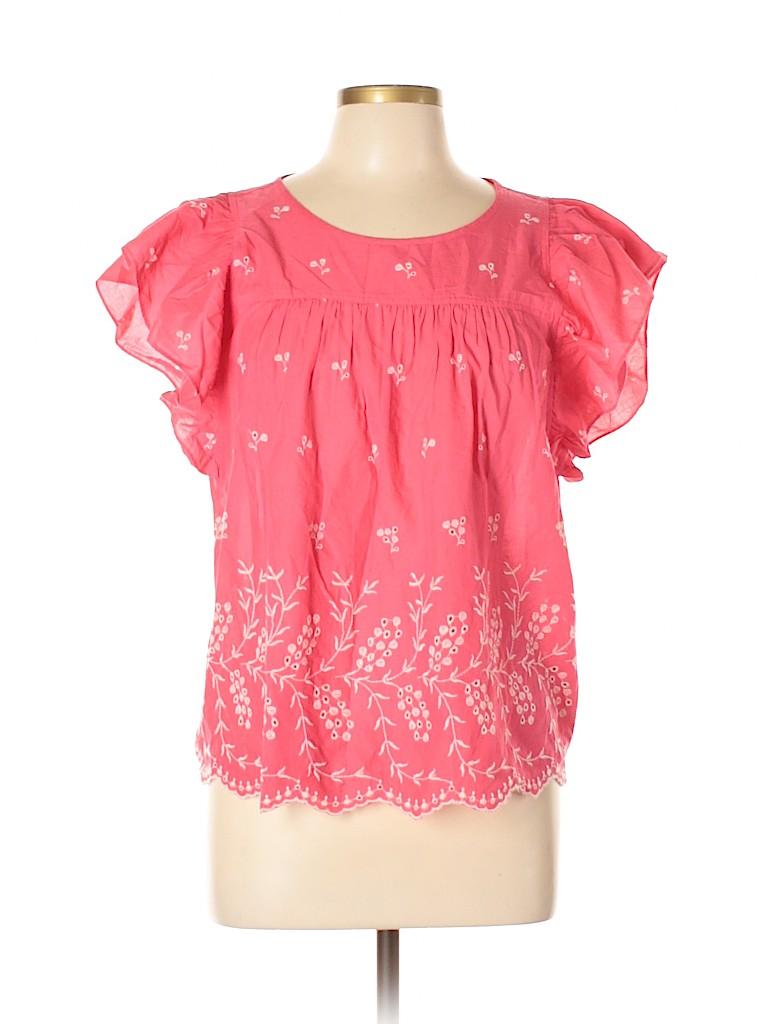 Gap Outlet Women Short Sleeve Blouse Size L