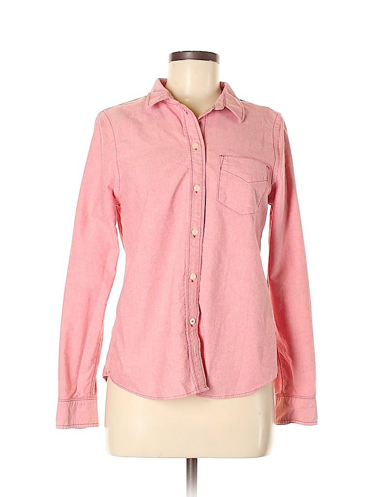 Broadway & Broome Women Long Sleeve Button-Down Shirt Size M
