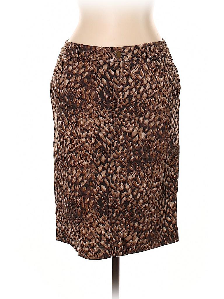 Coldwater Creek Women Denim Skirt Size 10