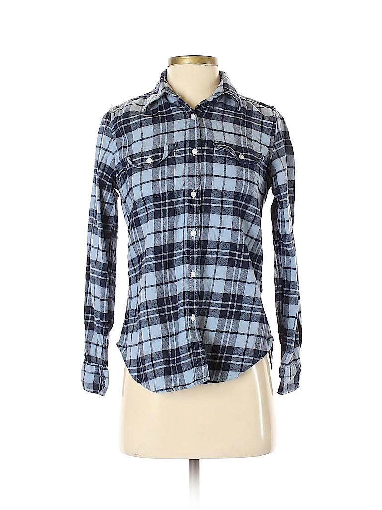 Tailor Vintage Women Long Sleeve Button-Down Shirt Size S