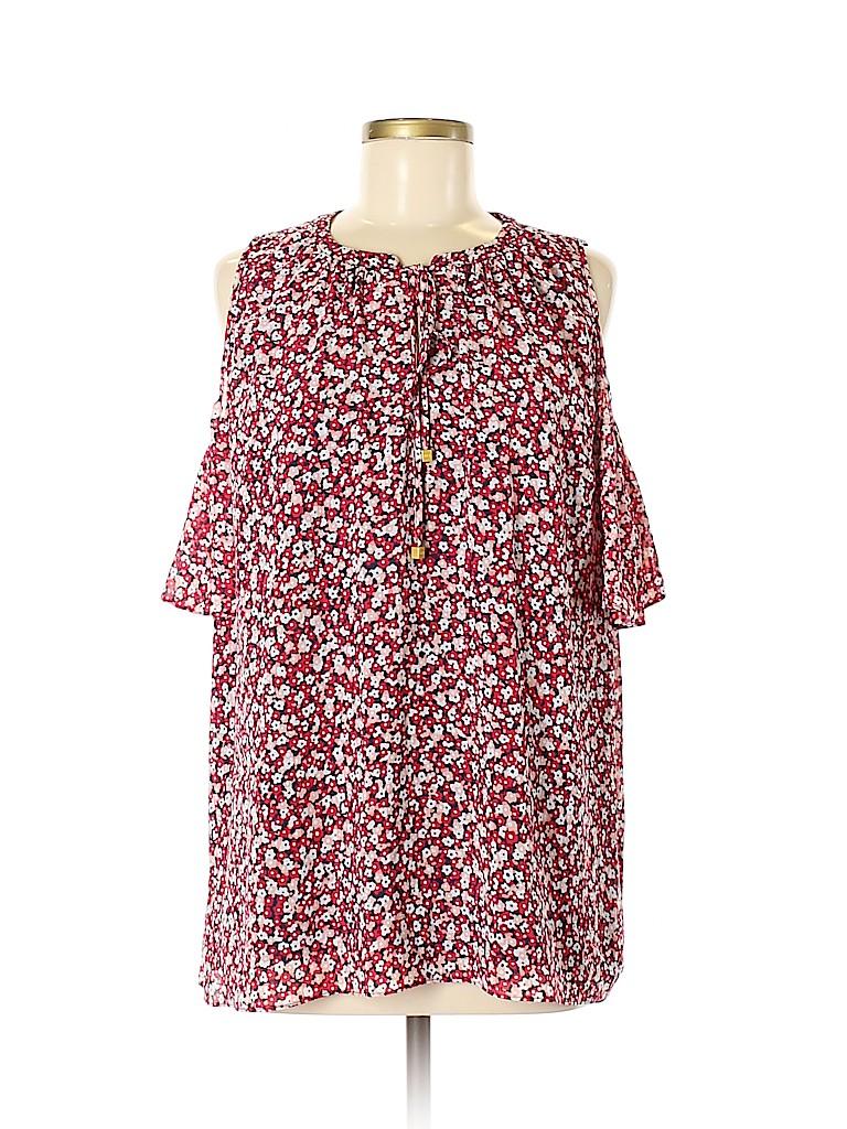 MICHAEL Michael Kors Women Short Sleeve Blouse Size XL