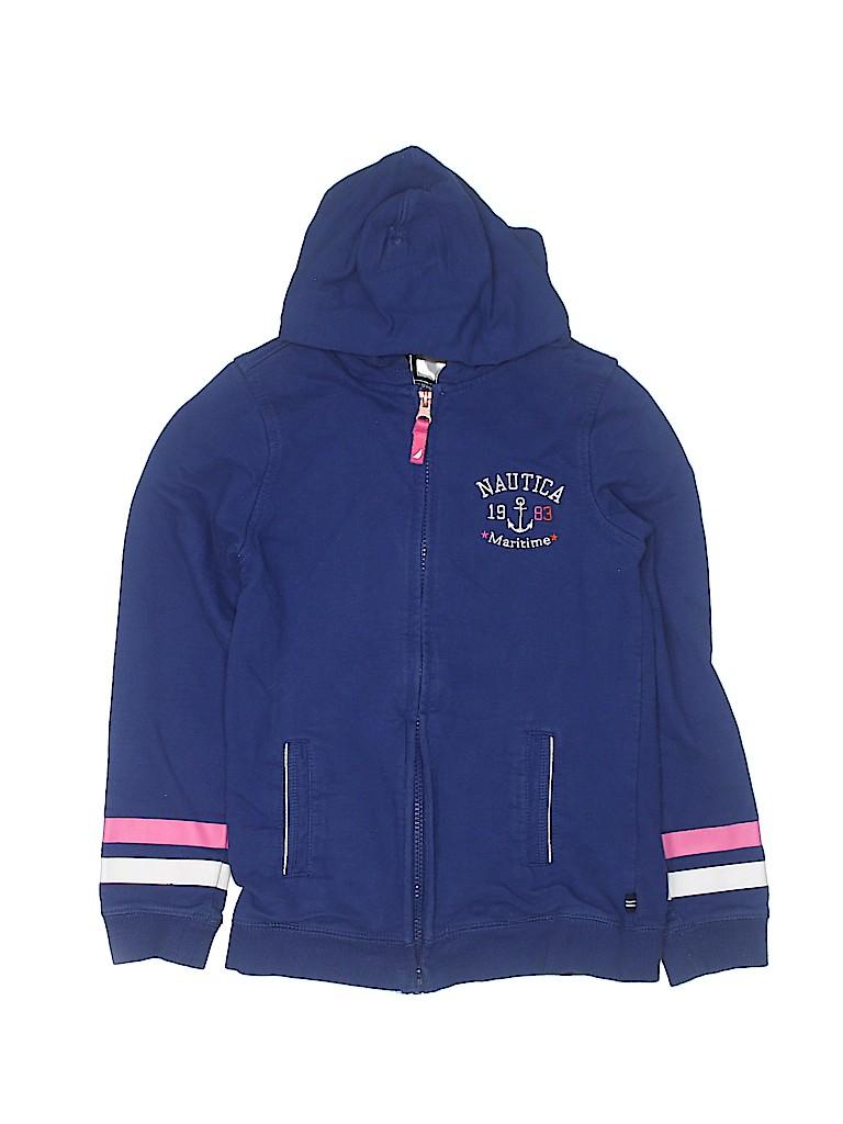 Nautica Girls Zip Up Hoodie Size 10