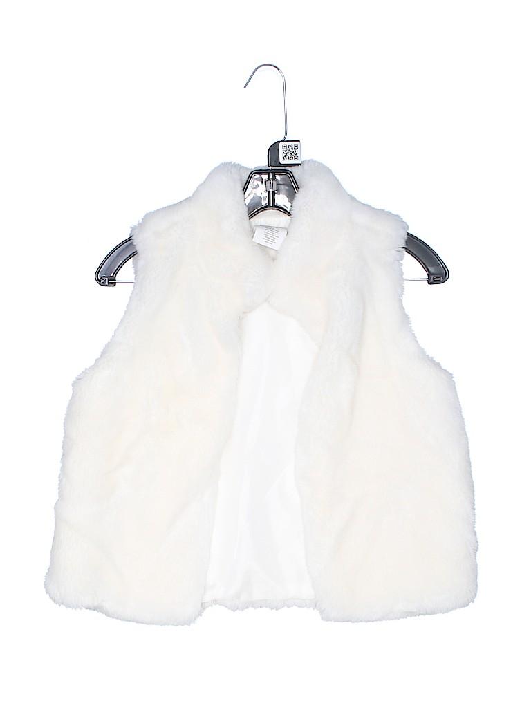 Crazy 8 Girls Faux Fur Vest Size 10 - 12
