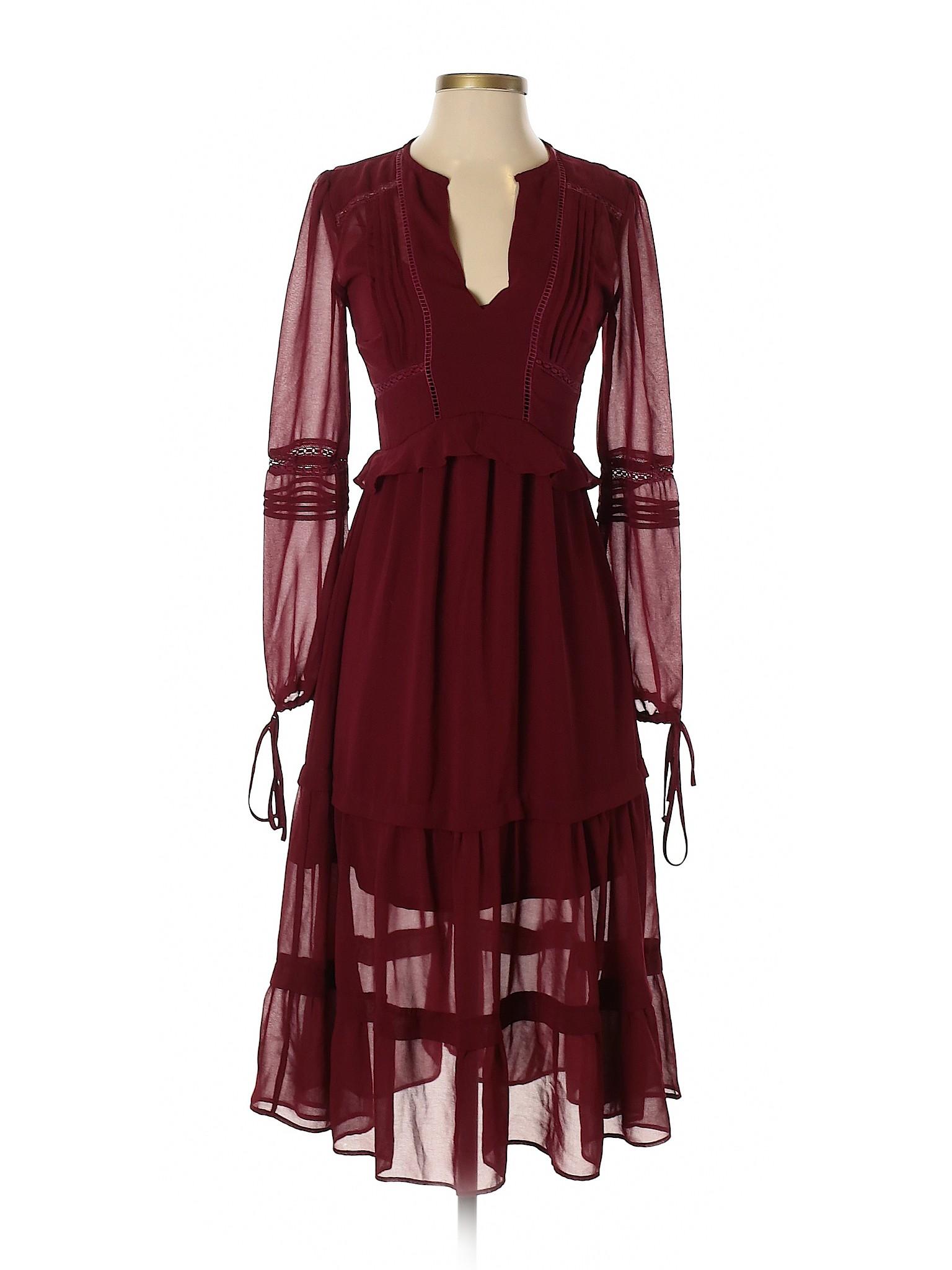 1f586fc544e Gianni Bini Women Red Casual Dress Xs