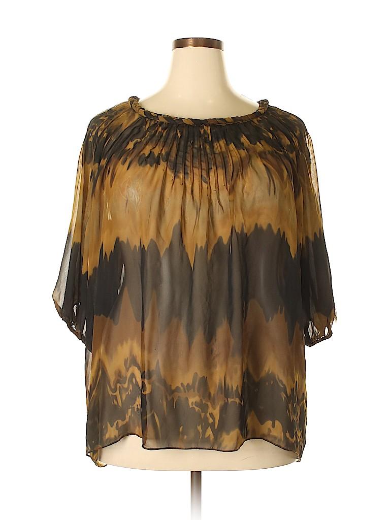 ECI Women 3/4 Sleeve Blouse Size 18 (Plus)