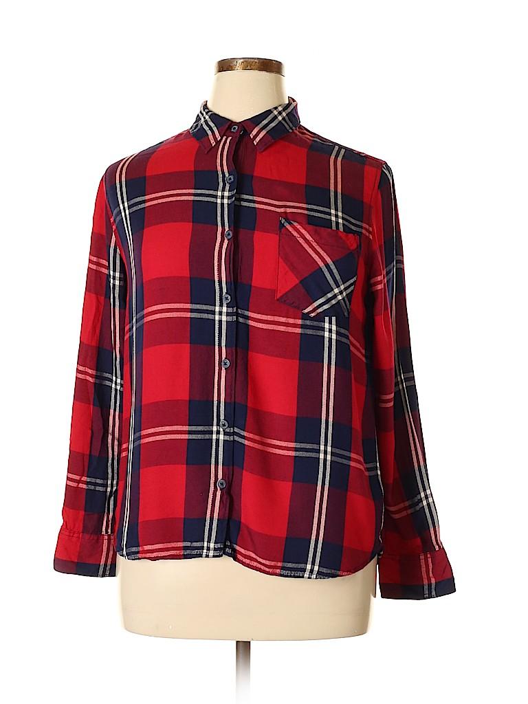 Woolrich Women Long Sleeve Button-Down Shirt Size XL