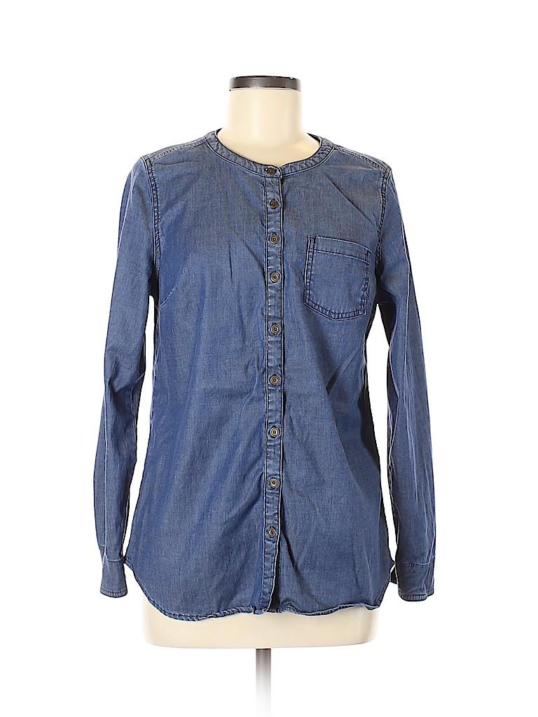 D&Co. Women Long Sleeve Button-Down Shirt Size S