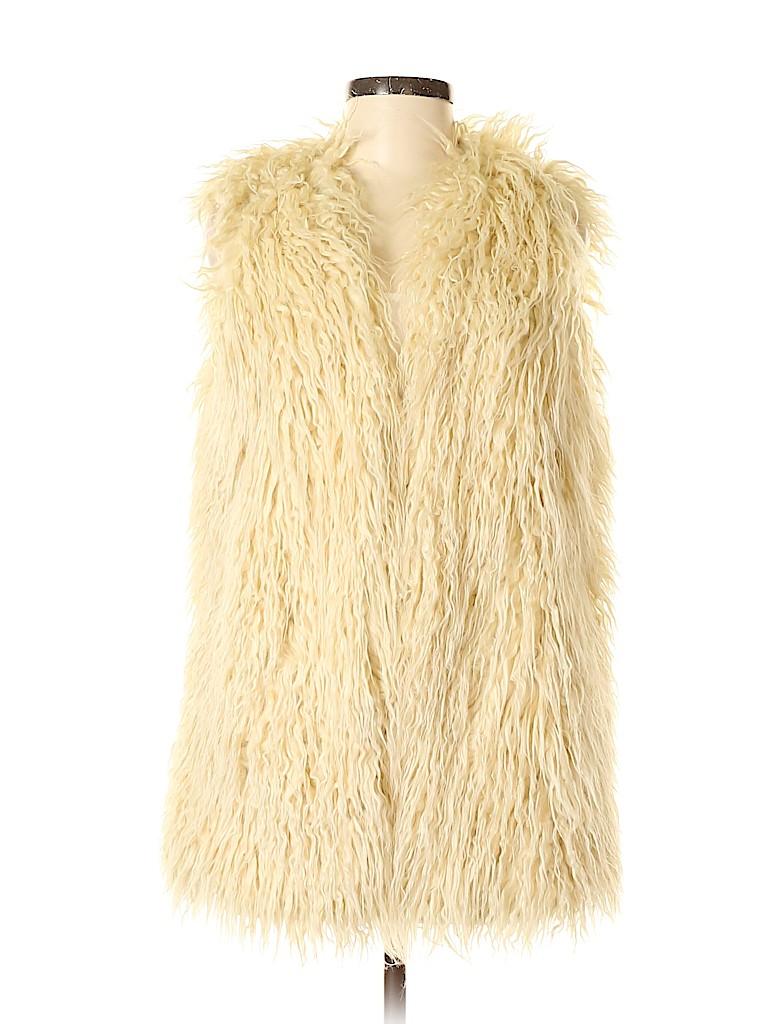 Abercrombie & Fitch Women Faux Fur Vest Size M
