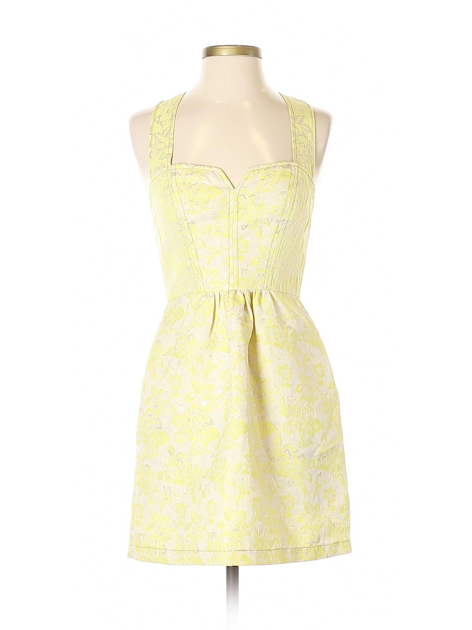 0b5f15476 Kimchi Blue Women Yellow Cocktail Dress 2 | eBay