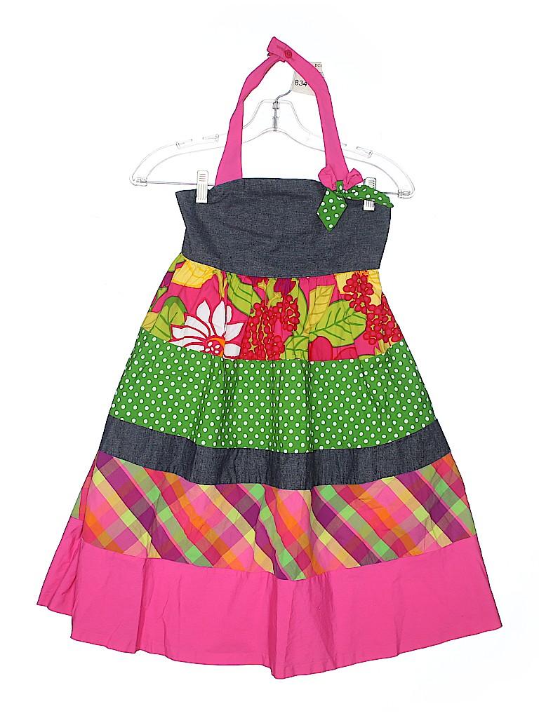 ecd08a62a6d Bonnie Jean 100% Cotton Checkered Gingham Floral Polka Dots Pink ...