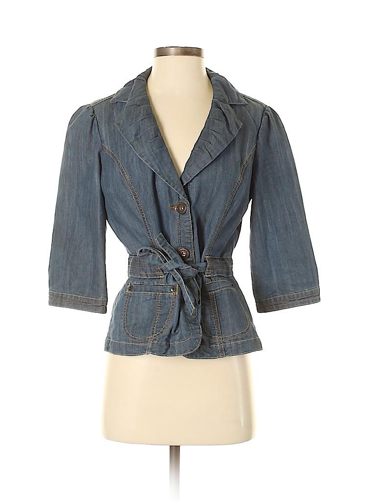 Baccini Women Denim Jacket Size S