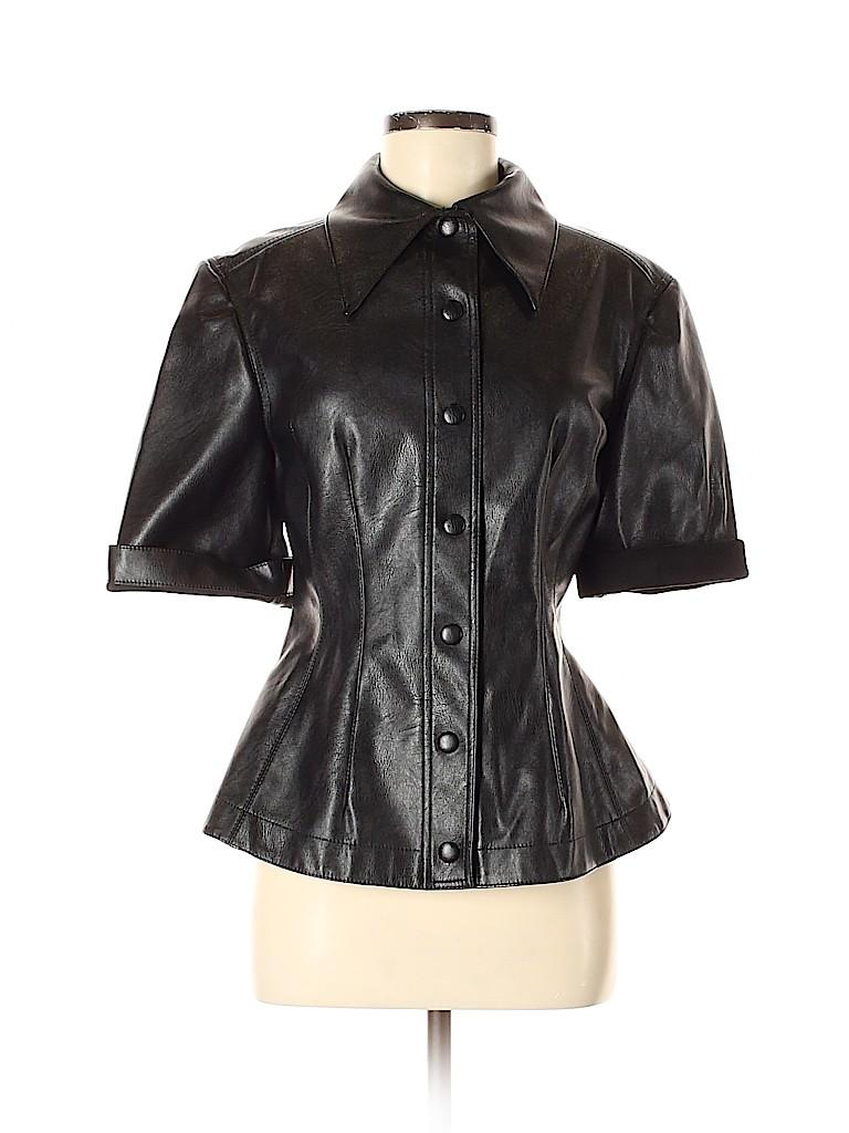 Stella McCartney Women Faux Leather Top Size 40 (EU)