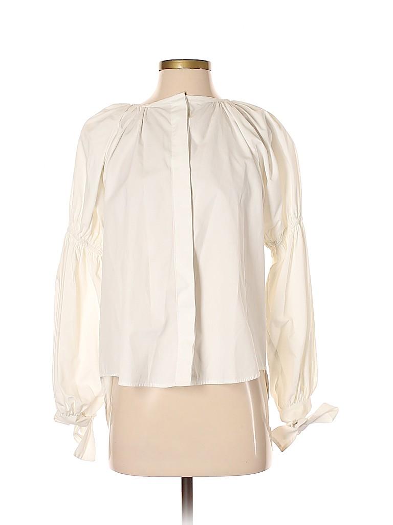 Faride Ramos Women Long Sleeve Silk Top One Size