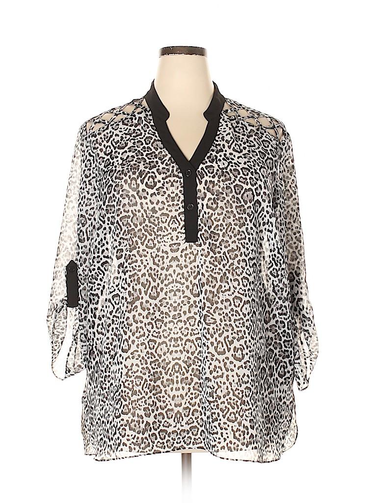 I.N. Studio Women Long Sleeve Blouse Size 3X (Plus)