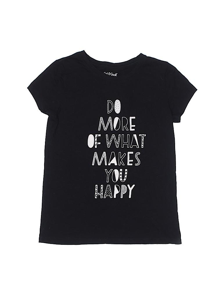 Cat & Jack Girls Short Sleeve T-Shirt Size 7 - 8