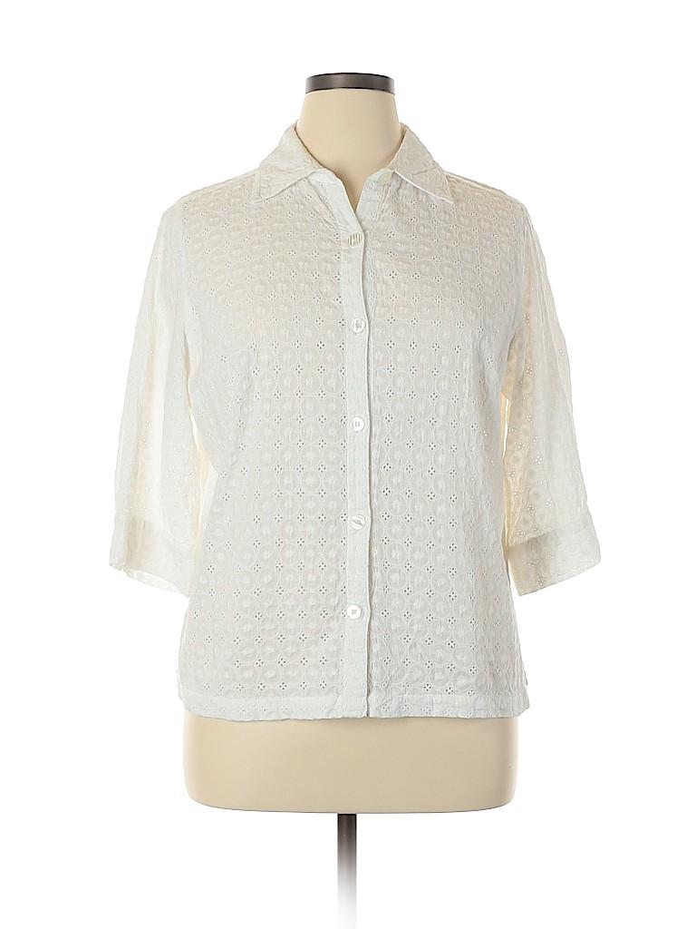Choices Women 3/4 Sleeve Blouse Size 1X (Plus)