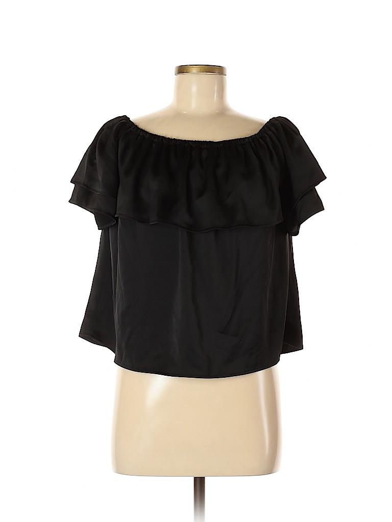 Harlowe & Graham Women Short Sleeve Blouse Size M