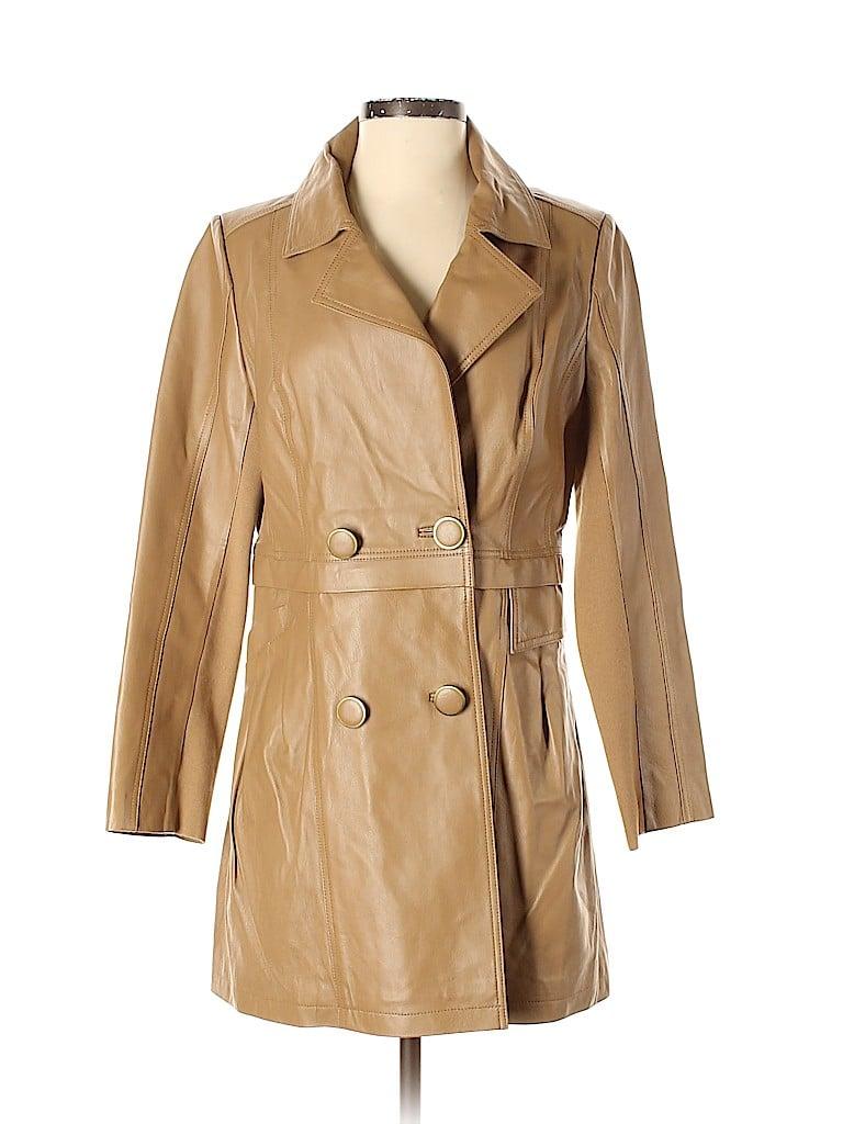 IMAN Women Faux Leather Jacket Size S