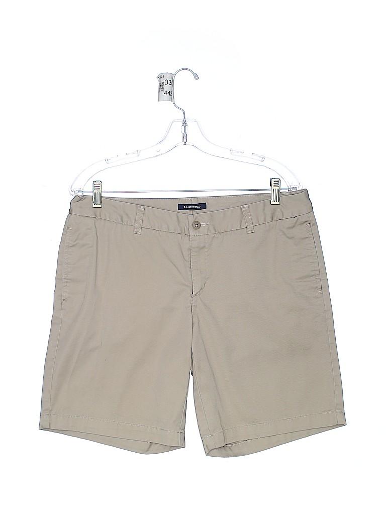 Lands' End Women Khaki Shorts Size 13