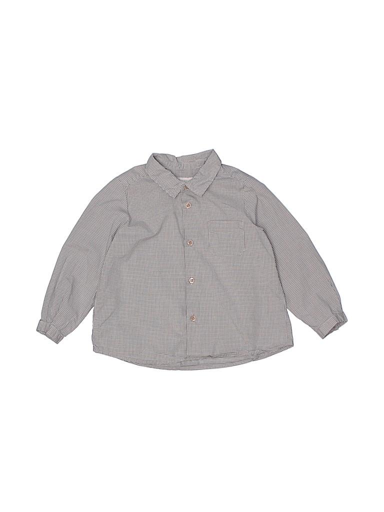 Bonpoint Boys Long Sleeve Button-Down Shirt Size 2