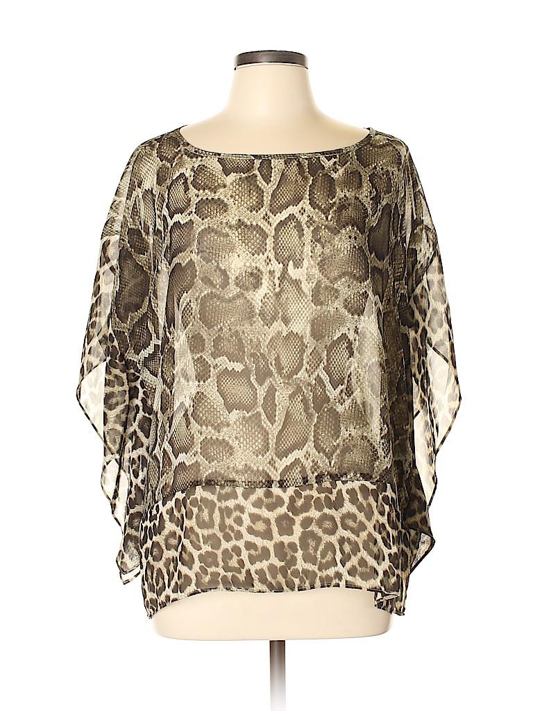 MICHAEL Michael Kors Women Short Sleeve Blouse Size Lg - XL