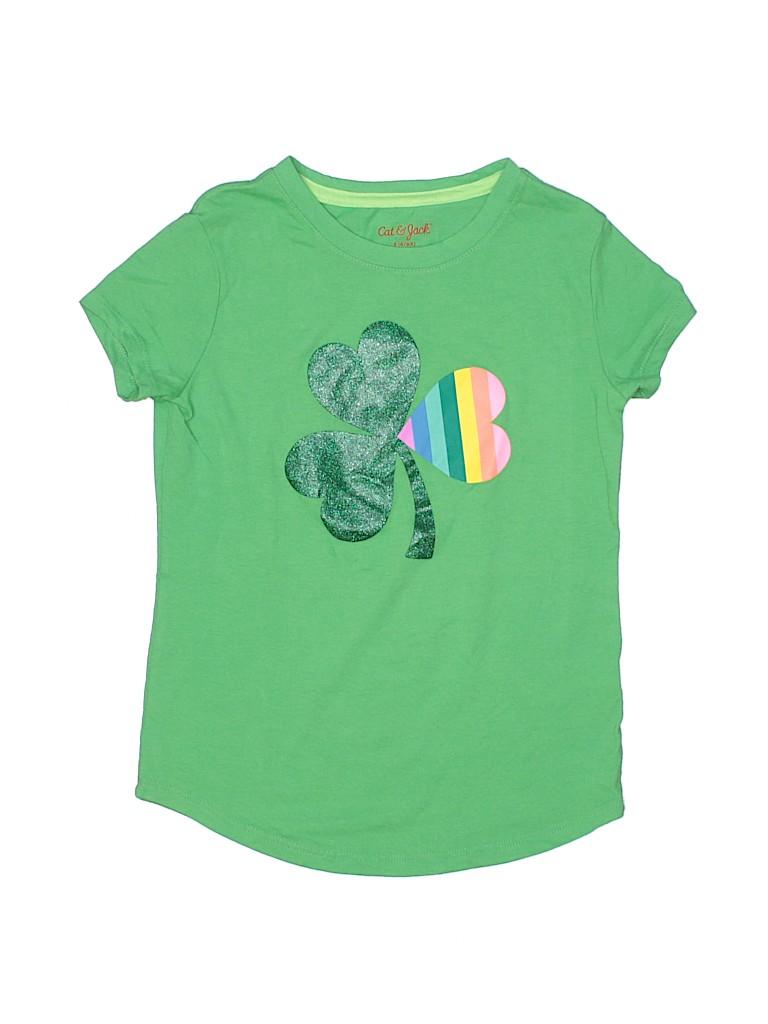 Cat & Jack Girls Short Sleeve T-Shirt Size S (Kids)