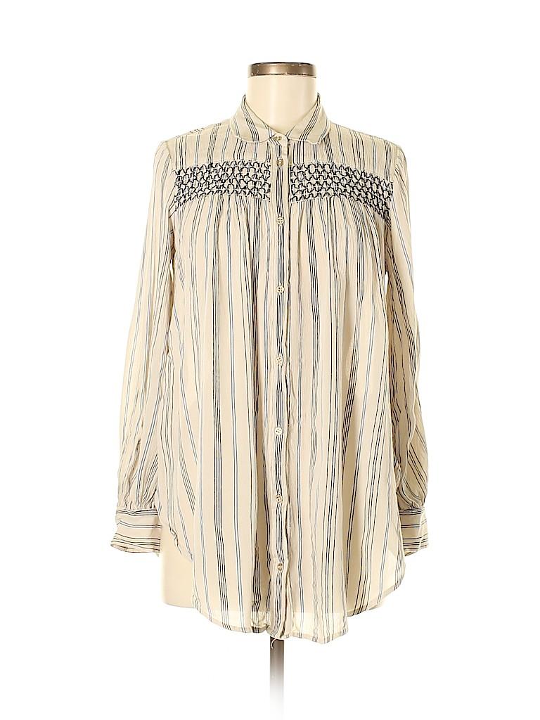 Floreat Women Long Sleeve Button-Down Shirt Size S